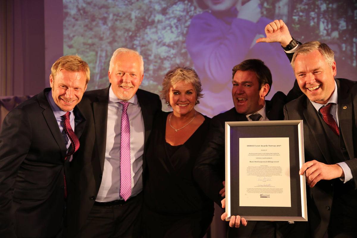 Vinnerprisen for Beste destinasjonsutviklings-event gikk til DestinasjonsKirurgene. Fotograf: Camilla Bergan.