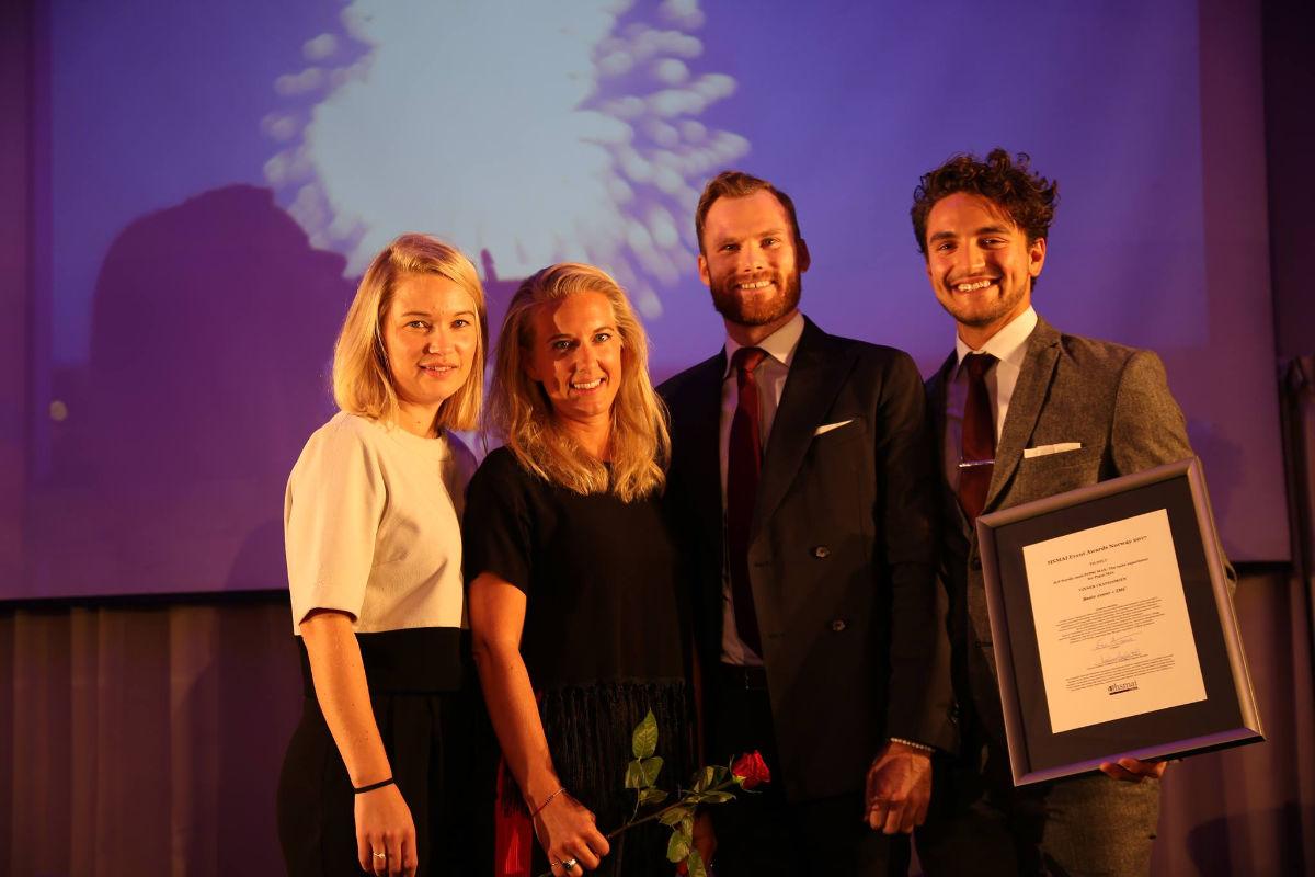 Gullet i Beste event + IMC gikk til JCP Nordic. Fotograf: Camilla Bergan.