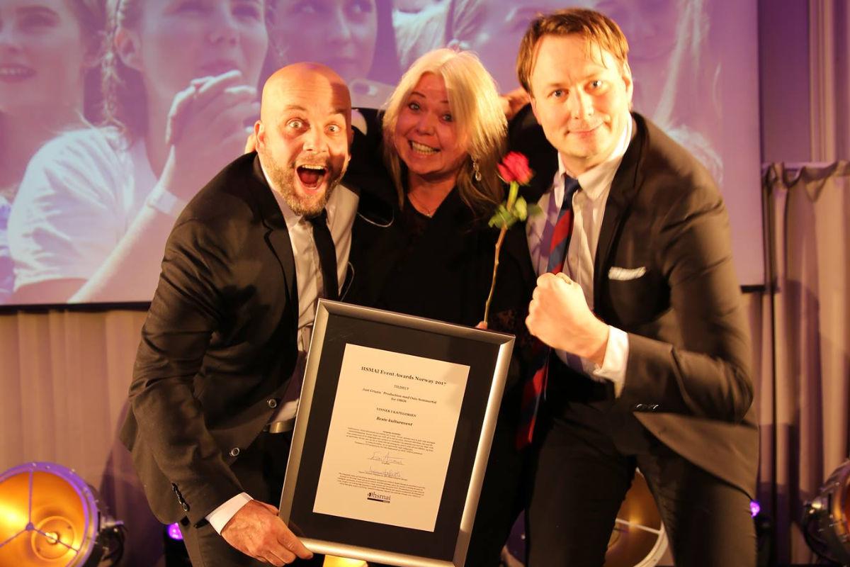 Gullet i kategorien Beste kulturevent gikk til Just Cruzin' Production. Fotograf: Camilla Bergan.