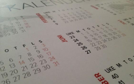 Kalender. Fotograf: Jarle Petterson