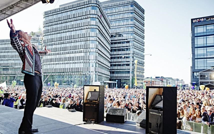 Petter Stordalen under åpningen av Clarion Hotel & Congress Malmø Live (foto fra Nordic Choice Hotels).