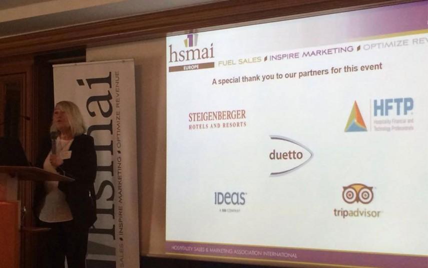 Ingunn Hofseth, President & CEO for HSMAI Europe, ønsker velkommen til HSMAI Europe Leadership Day på torsdag.