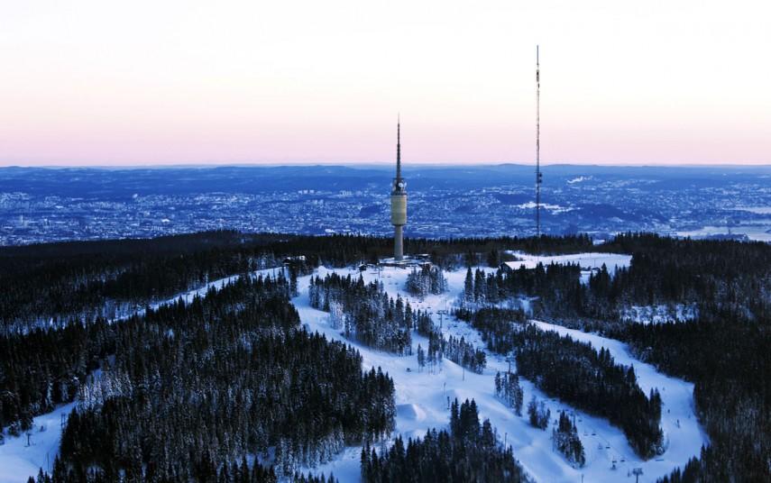 Tryvann og Oslo Vinterpark. Foto fra Oslo Vinterpark