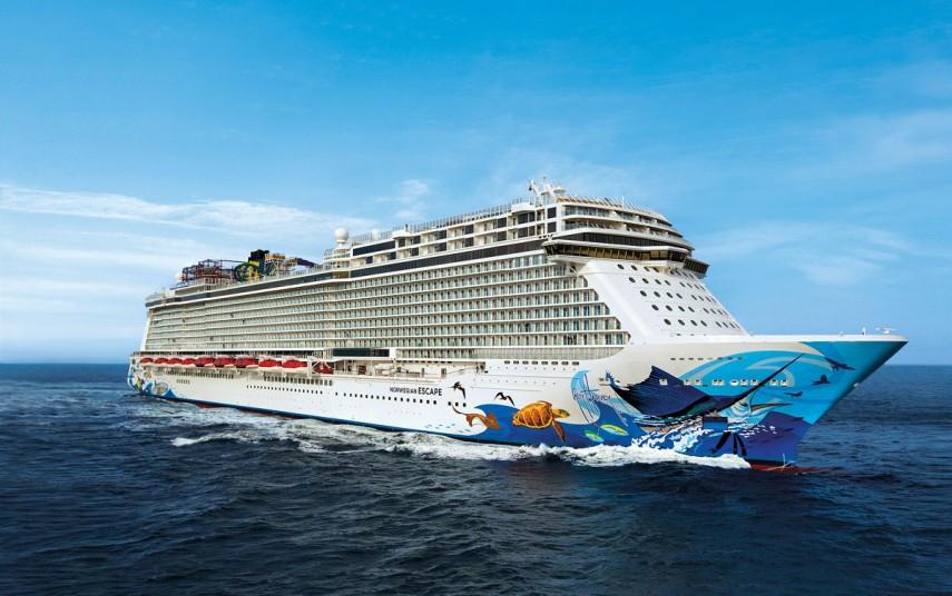 """Norwegian Cruise Lines """"Norwegian Escape"""". Foto fra Norwegian Cruise Lines"""