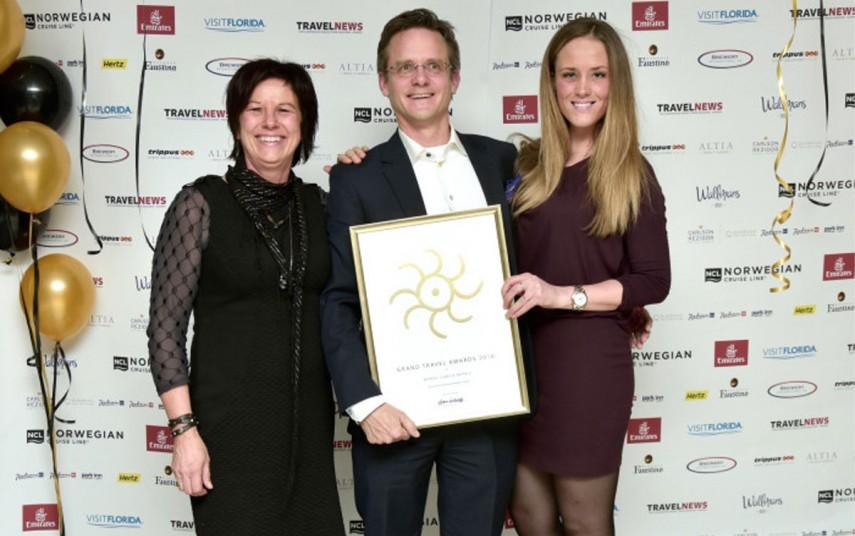 Nordic Choice Hotels ble kåret til Norges beste hotellkjede for tredje år på rad under Grand Travel Awards 2016. Foto fra Nordic Choice Hotels.