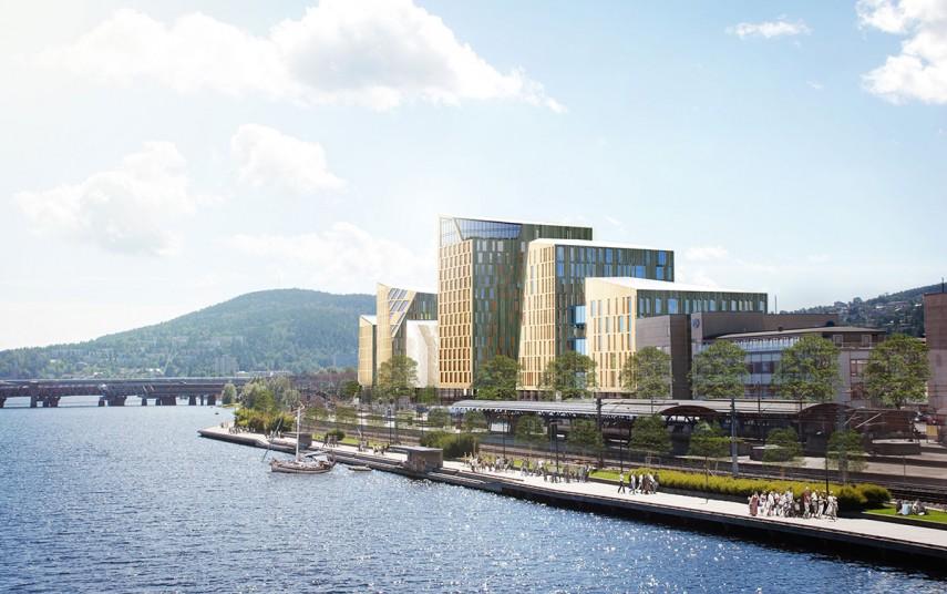 Tegning av Quality Hotel Drammen. Kilde: Nordic Choice Hotels.