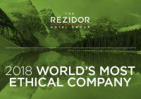 Rezidor kåret til et av verdens mest etiske selskaper for niende år på rad